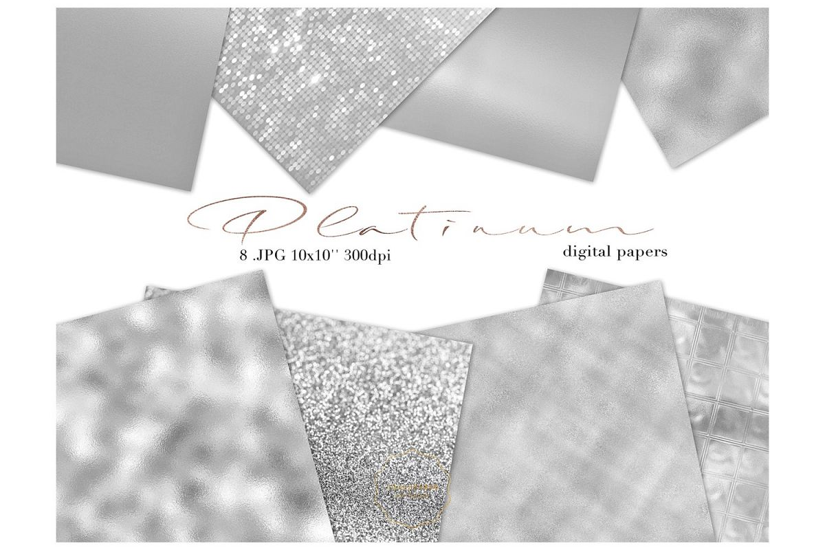 Platinum Papers - Metallic Texture example image 1