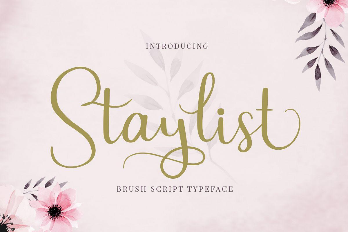 Staylist Script Font example image 1