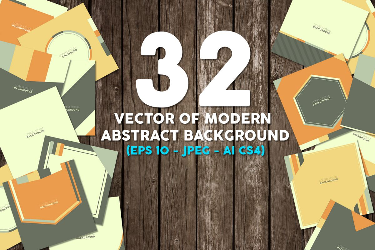 32 Vector of modern abstract background example image 1