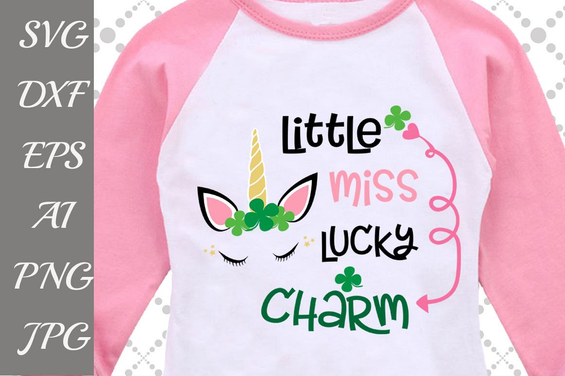 Little Miss Lucky Charm Svg example image 1