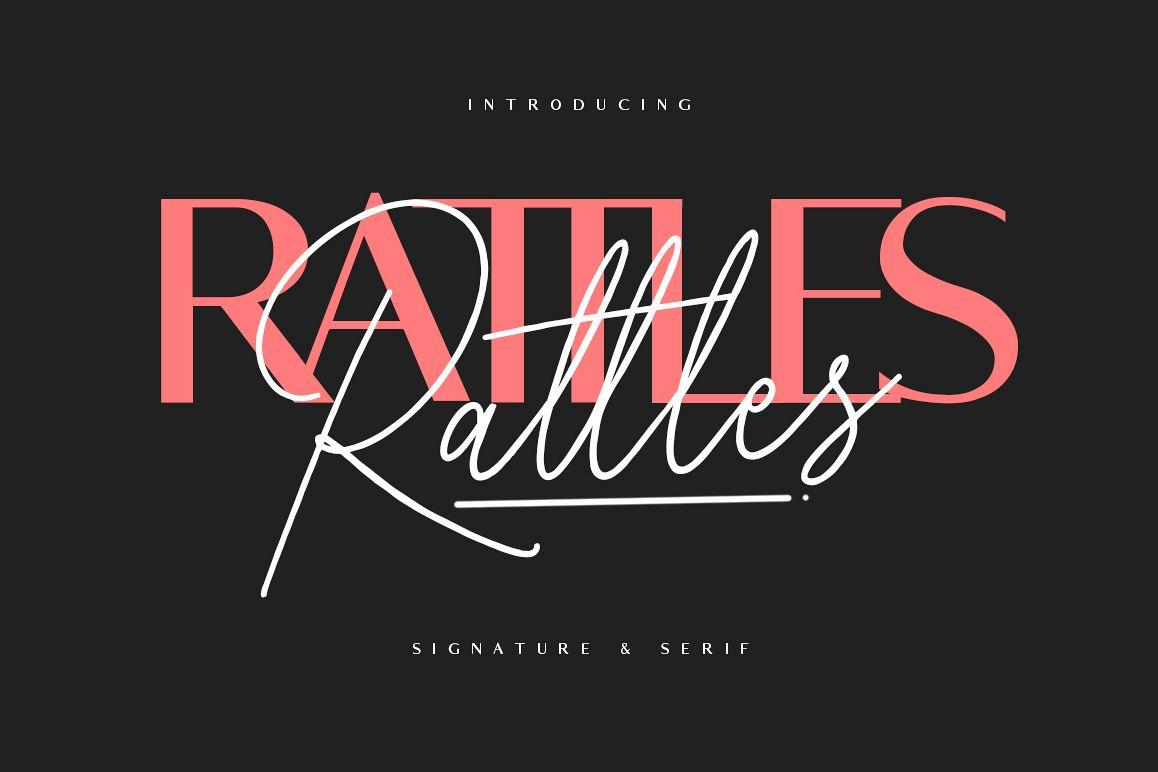 Rattles Signature plus Serif example image 1