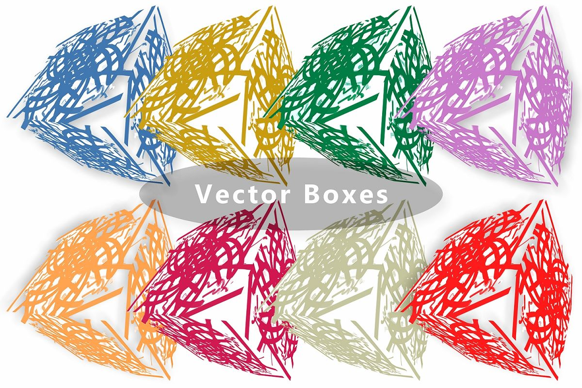 Semi Transparent Vector Boxes example image 1