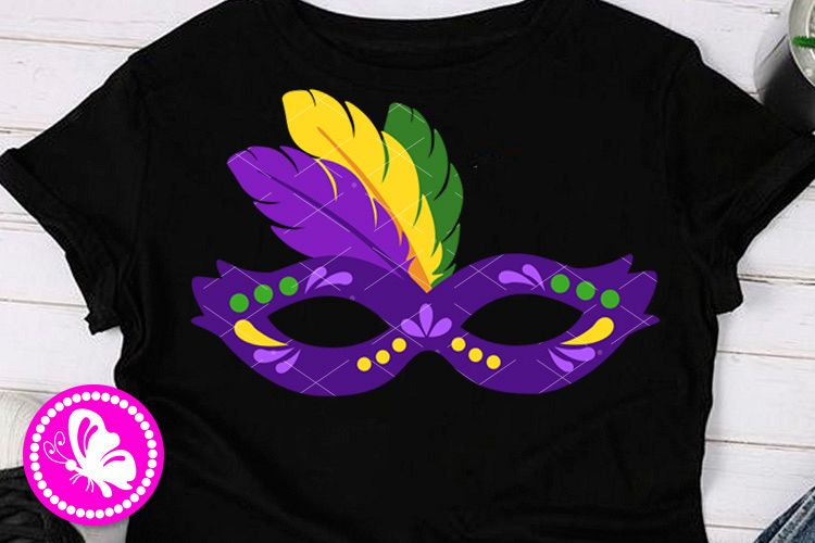 Mardi Gras mask clip art Carnival cruise decor Feathers png example image 1