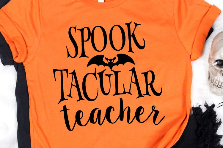 Spooktacular Teacher Svg, Teacher Svg, Teacher Shirt example image 1
