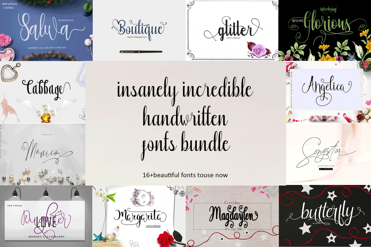16 Incredible Handwritten Fonts example image 1
