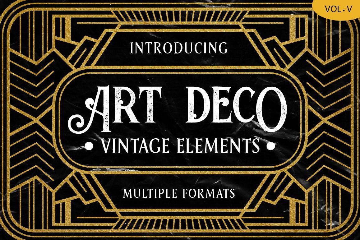 Art Deco Vintage Badges Vol. V example image 1