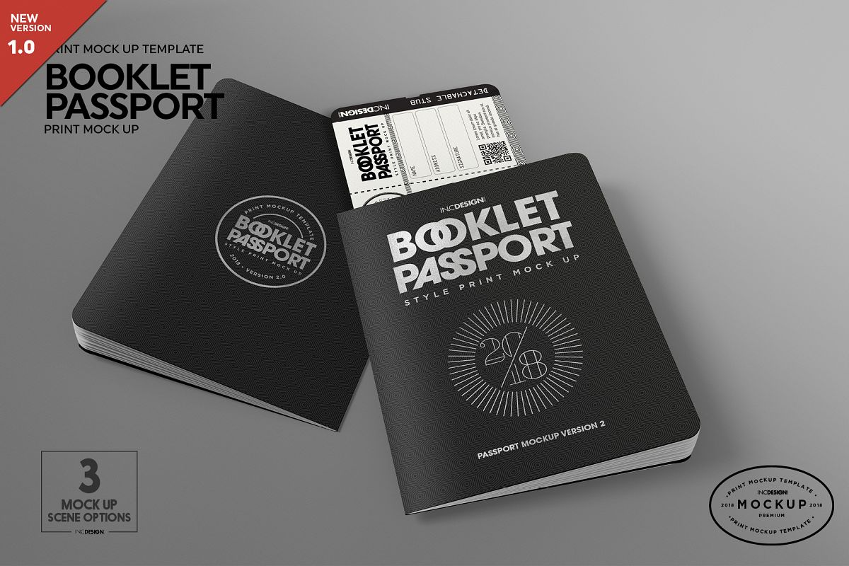 Booklet Passport Print MockUp example image 1