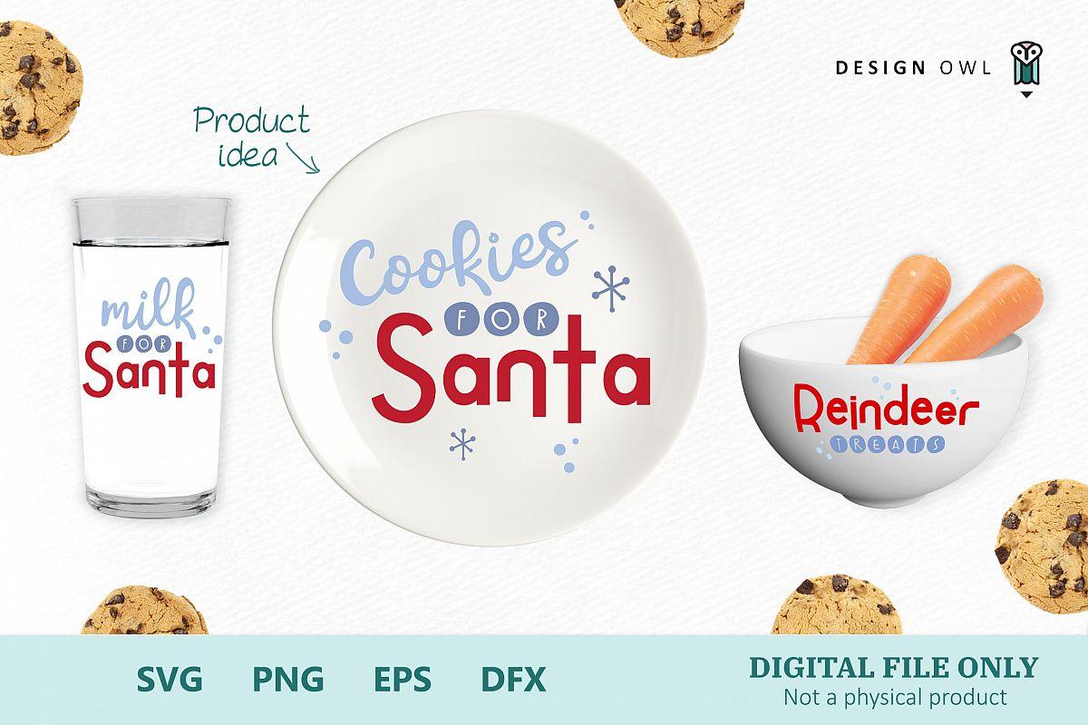 Cookies For Santa Christmas Svg Bundle