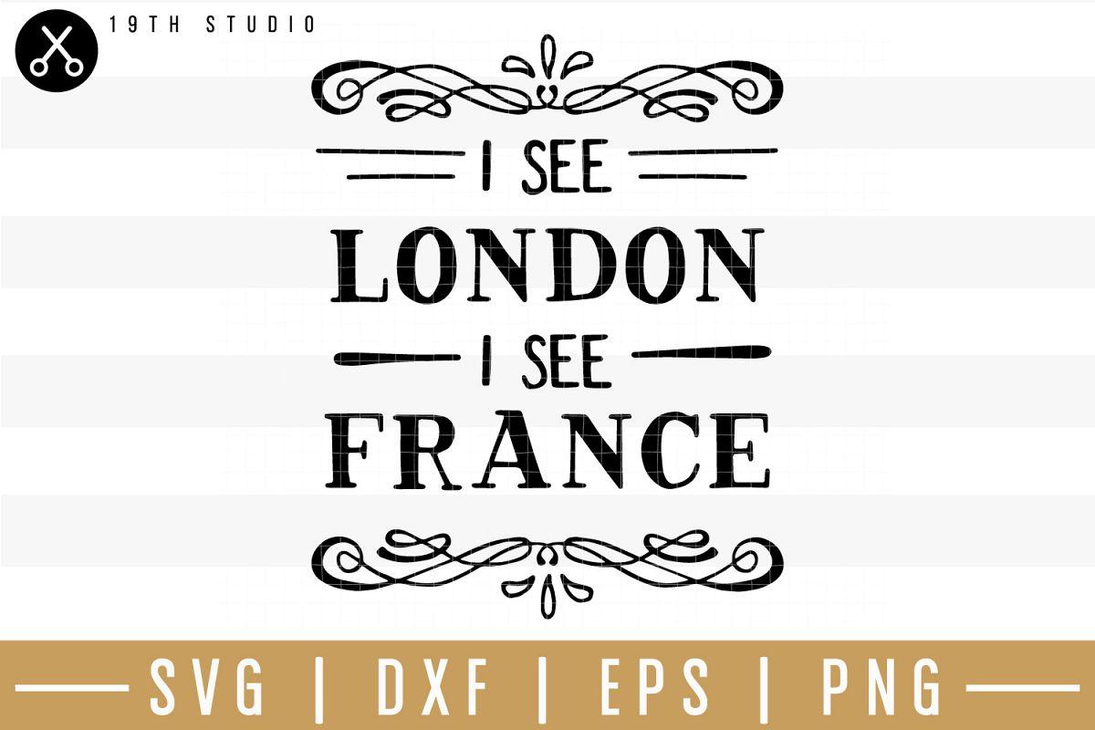 I see London I see France SVG| Bathroom sign SVG example image 1