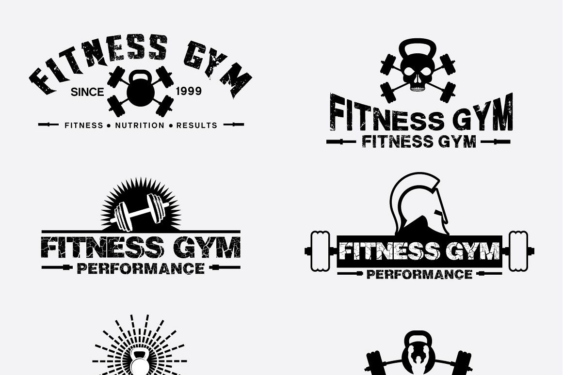 Fitness Gym - Labels & Badges example image 1