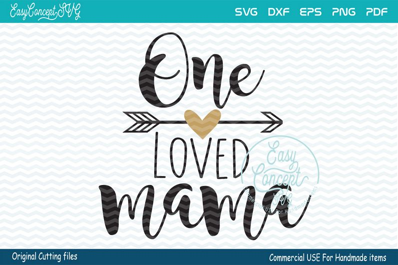 One loved Mama svg, Blessed Mama SVG, Momlife svg, example image 1