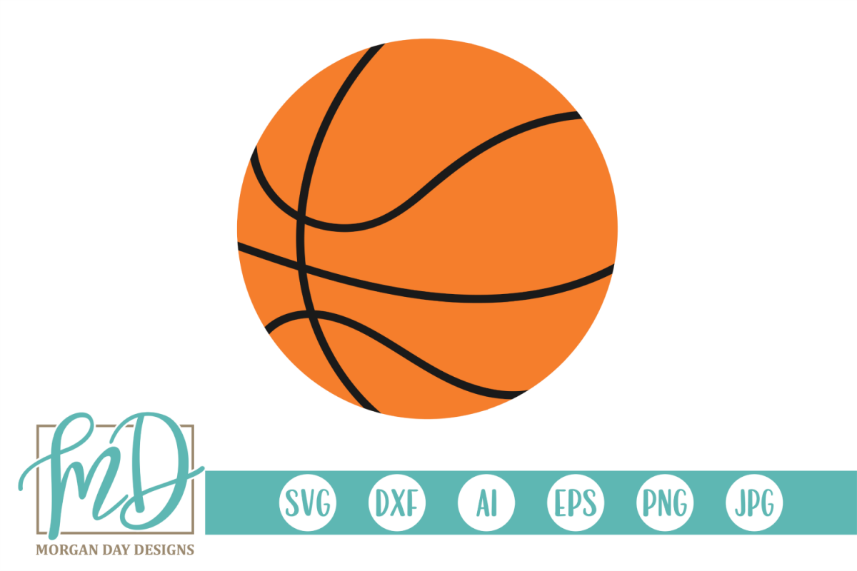 Basketball SVG, DXF, AI, EPS, PNG, JPEG example image 1