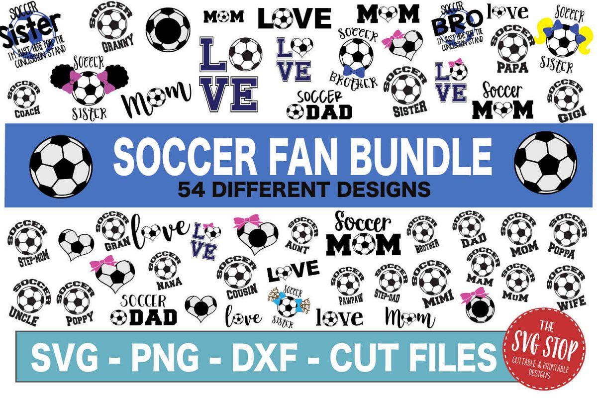 Soccer SVG Bundle -SVG, PNG, DXF example image 1