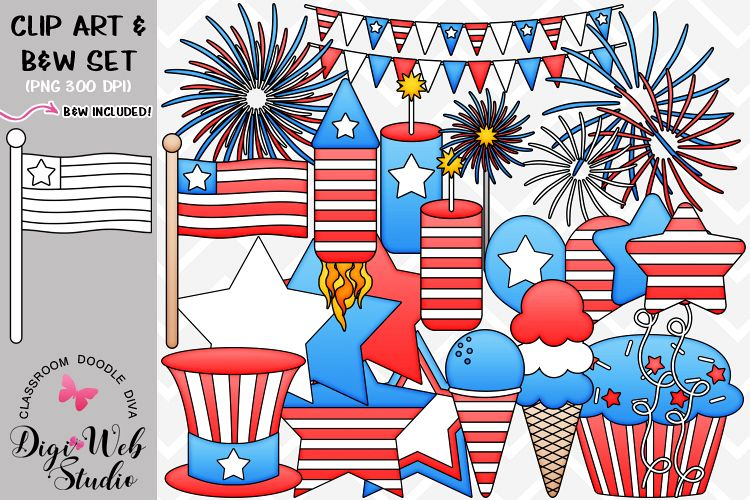 Clip Art / Illustrations - 4th of July Stuff example image 1
