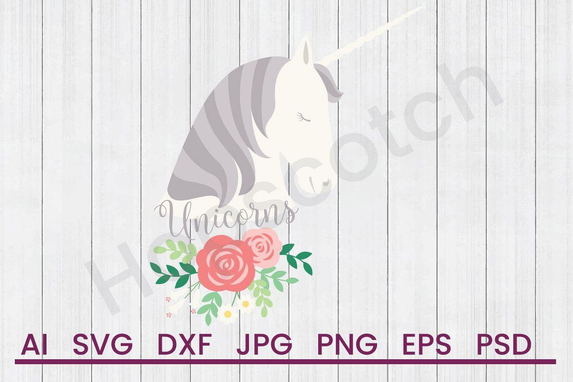 Unicorn SVG, Unicorns SVG, DXF File, Cuttatable File example image 1