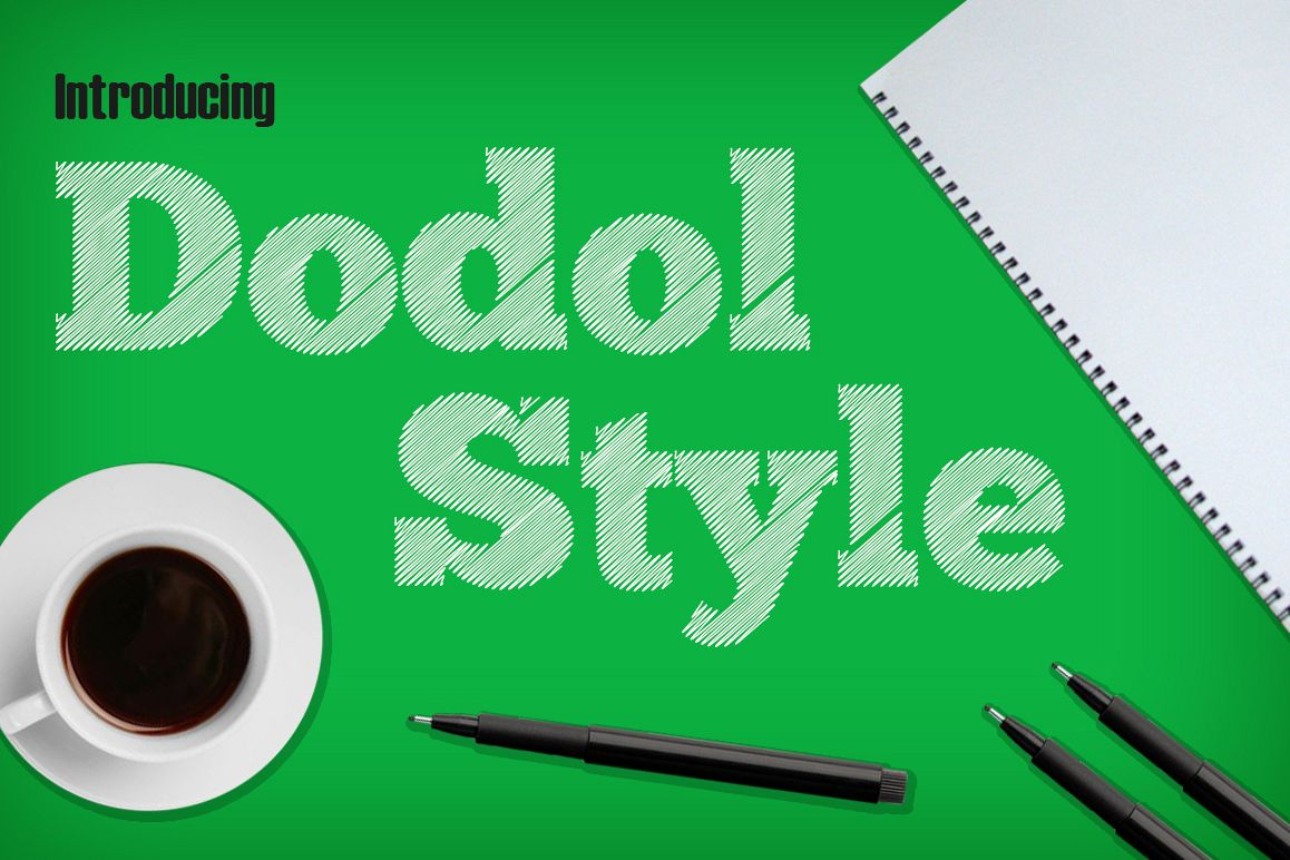 Dodol Font example image 1
