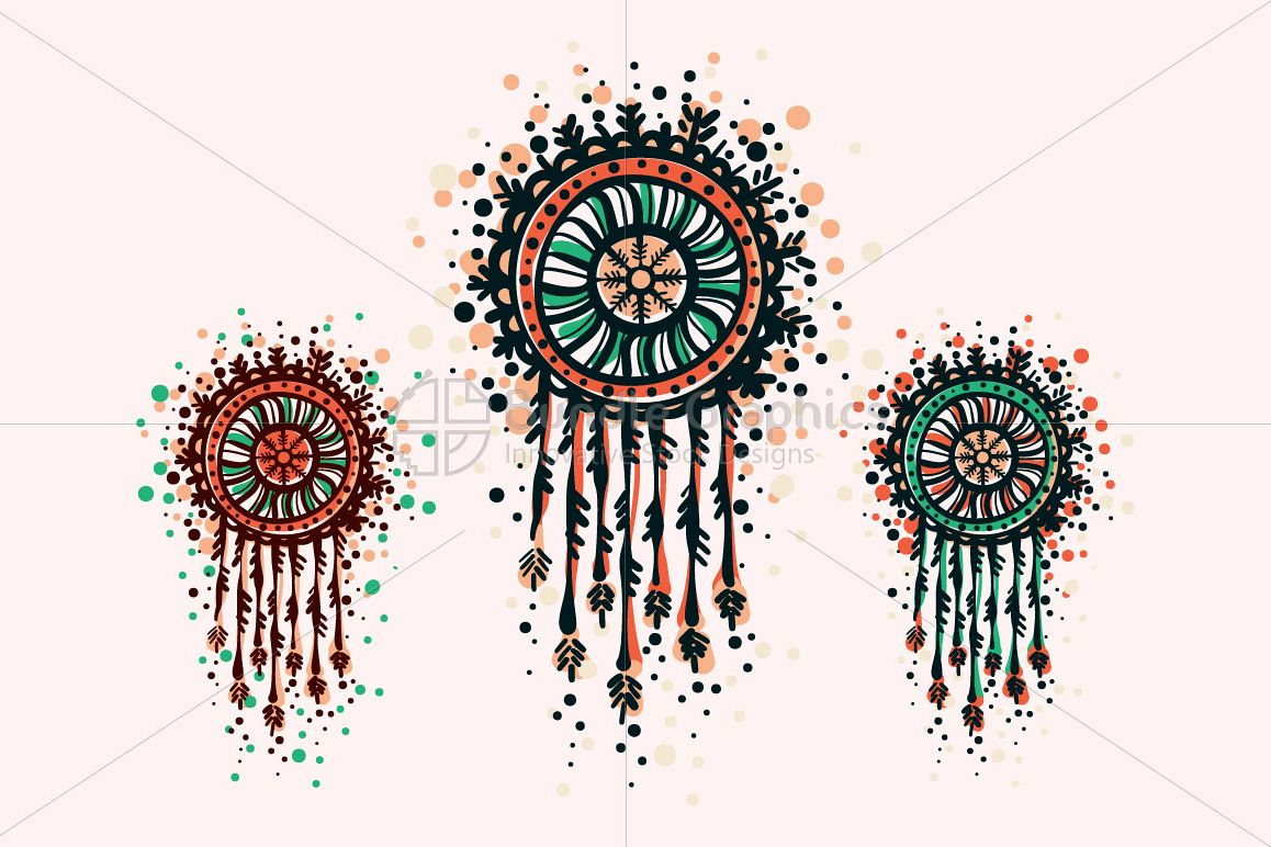 Dream Catcher - Freehand Organic Shapes Decorative Graphics example image 1