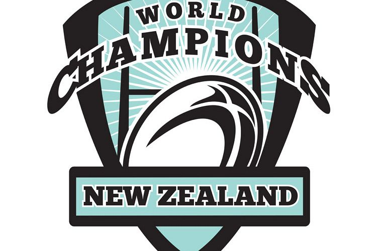 Rugby ball New Zealand World Champions example image 1