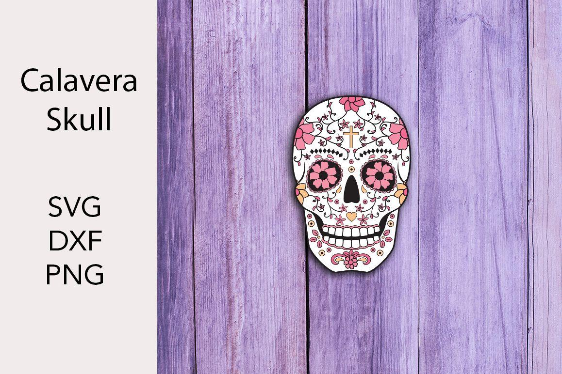 Calavbera Vector- Skull - SVG DXF PNG example image 1