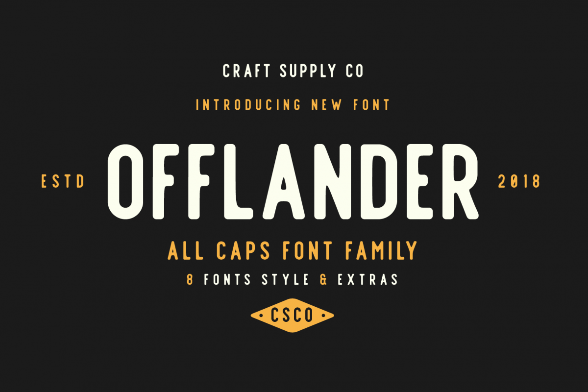 Offlander - Font Family example image 1