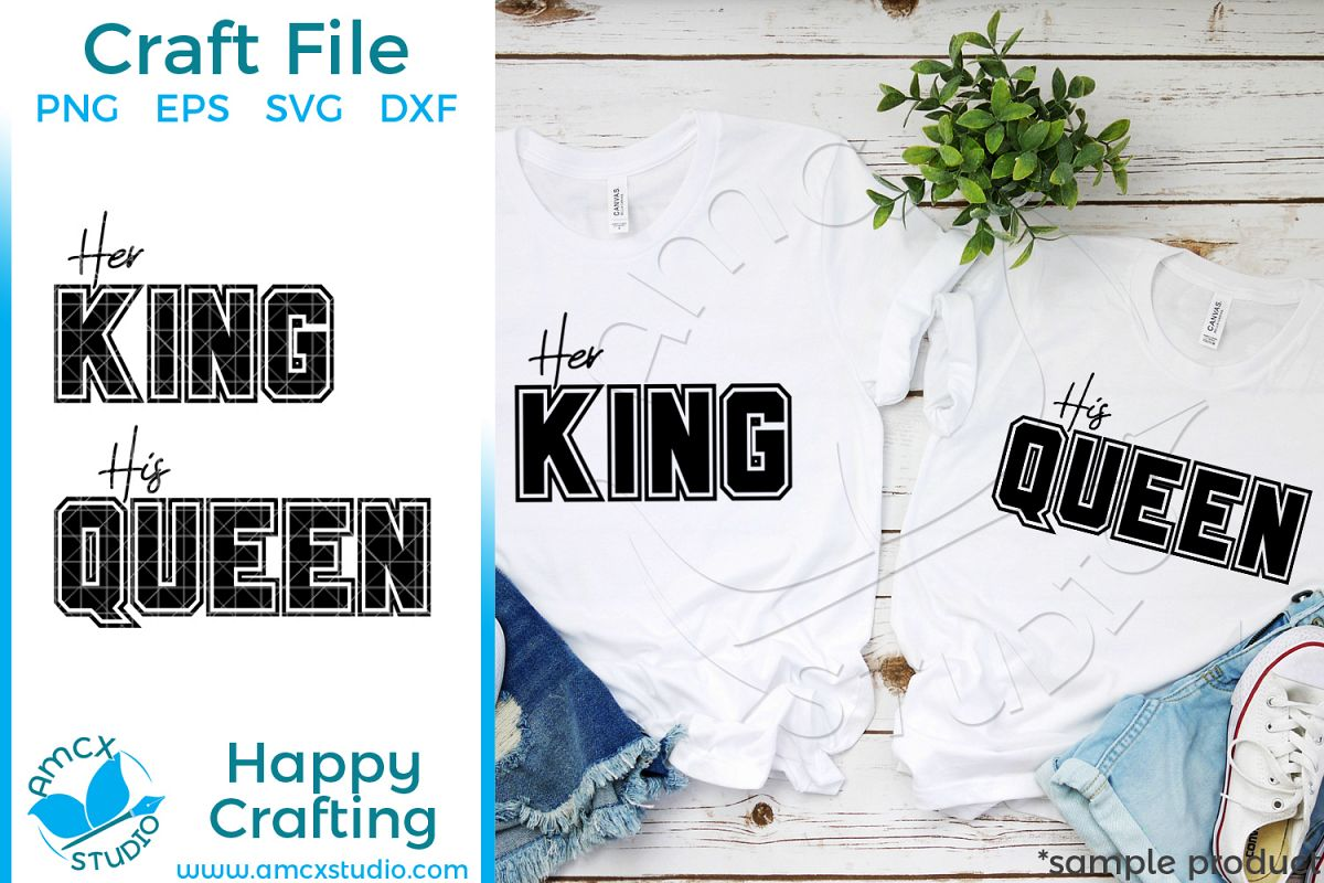 His Queen Her King Svg.Her King His Queen Couples Svg File