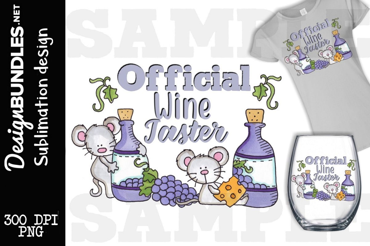 Official Wine Taster Sublimation Design example image 1