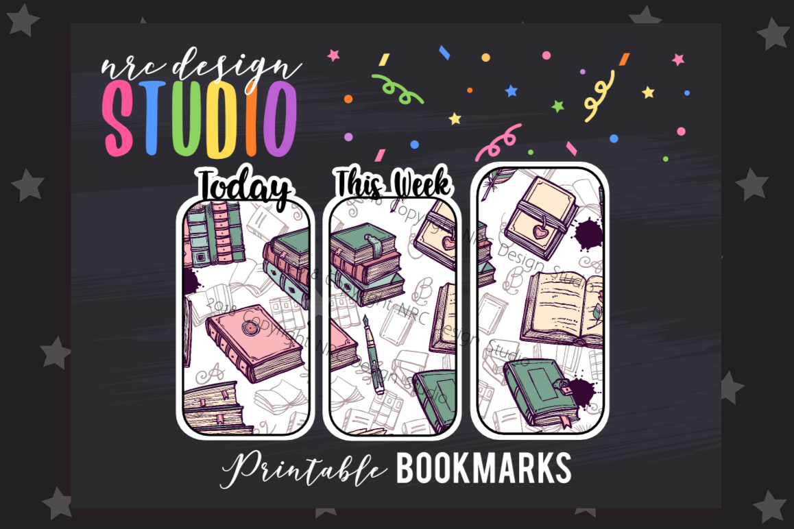 Book Lover Bookmark, Planner Printable example image 1
