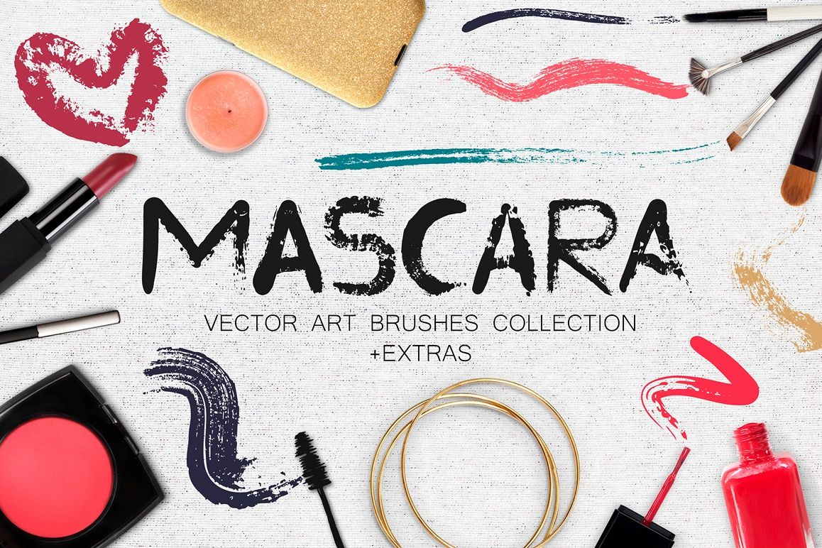 Mascara - Vector Art Brushes example image 1