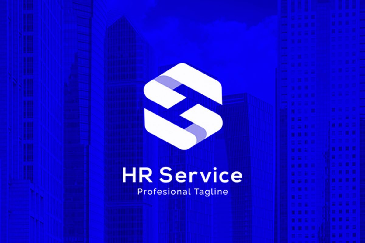 HR Service - H S Letter Logo example image 1