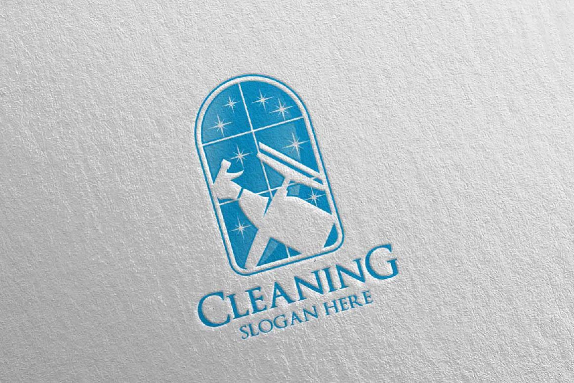 Cleaning Service Vector Logo Design example image 1