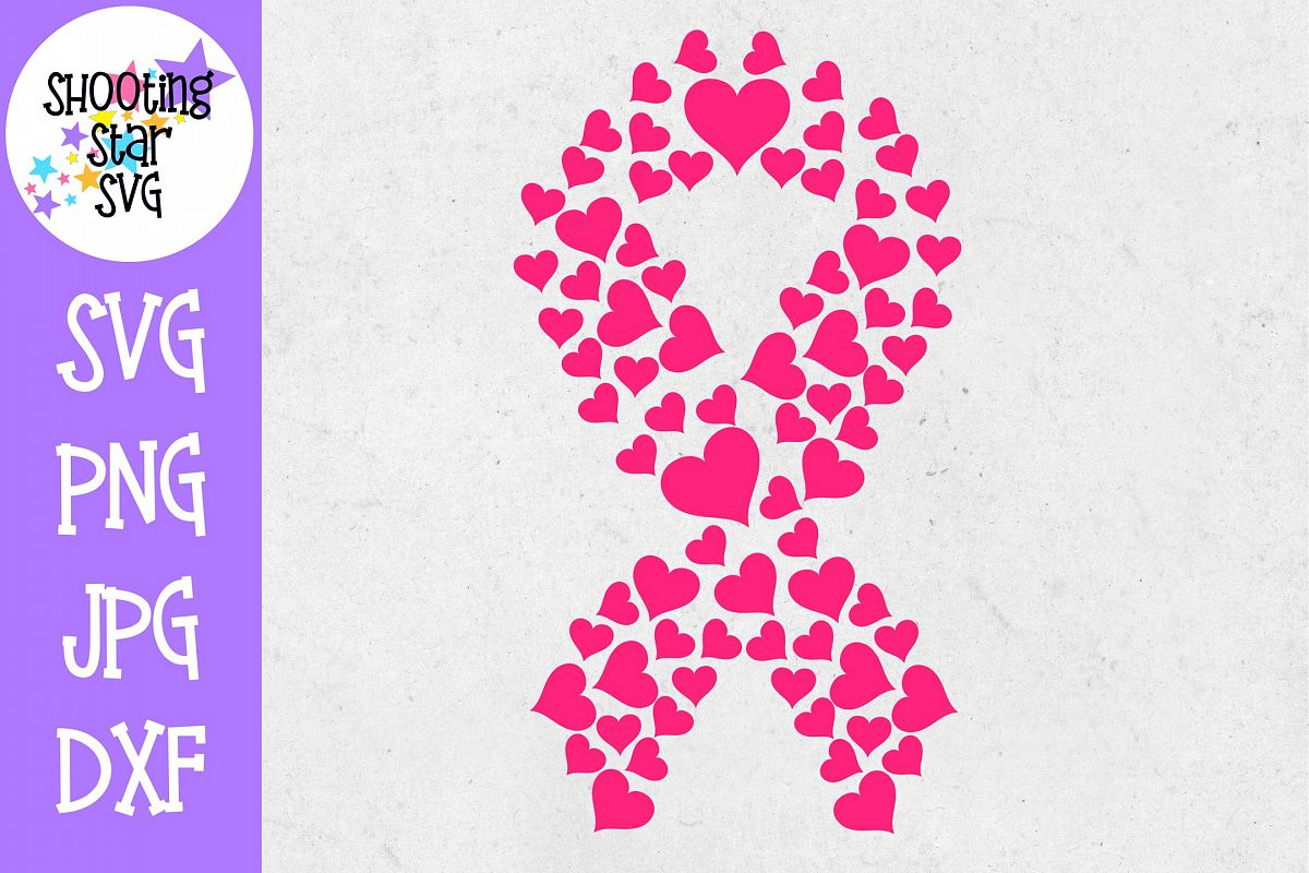 Heart Breast Cancer Awareness SVG - Breast Cancer SVG example image 1
