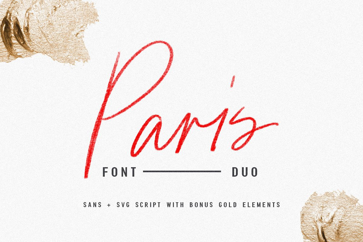Paris | Font Duo + SVG with Extras example image 1