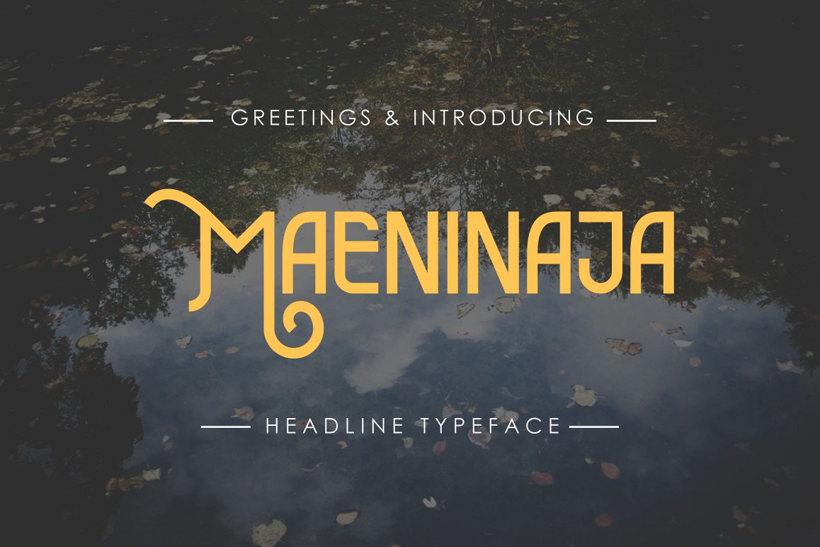 Maeninaja Typeface example image 1