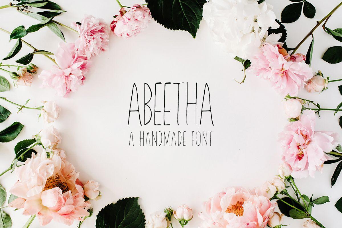 Abeetha Handmade Font example image 1