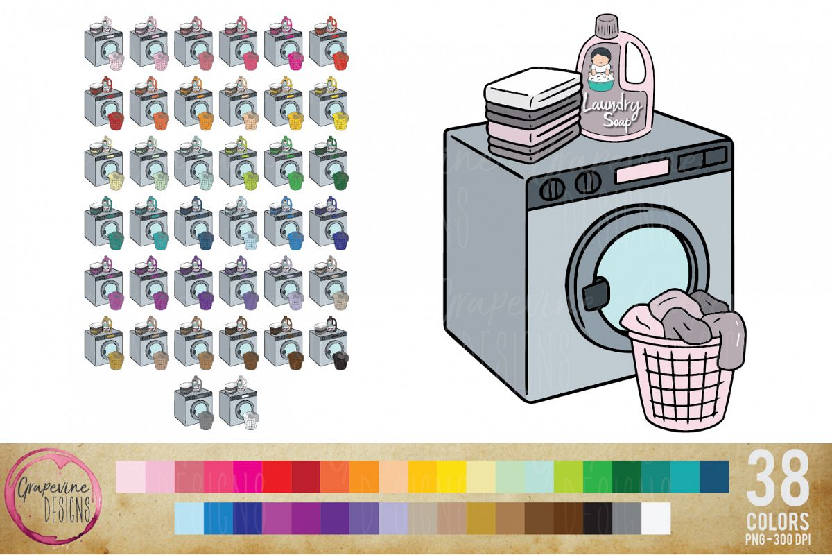 Laundry Planner Clipart example image 1