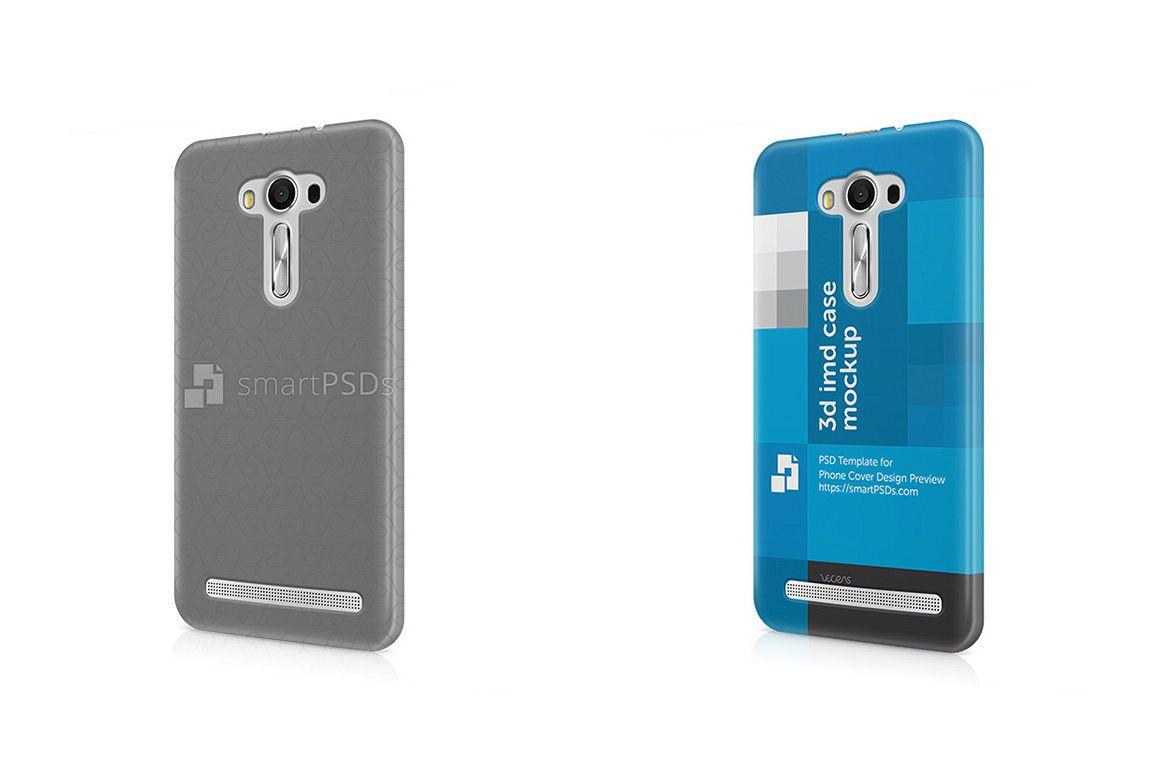 Asus Zenfone 2 Laser Ze550kl 3d Imd Mobile Case Design Mockup 2015 Ze 550kl Example Image 1