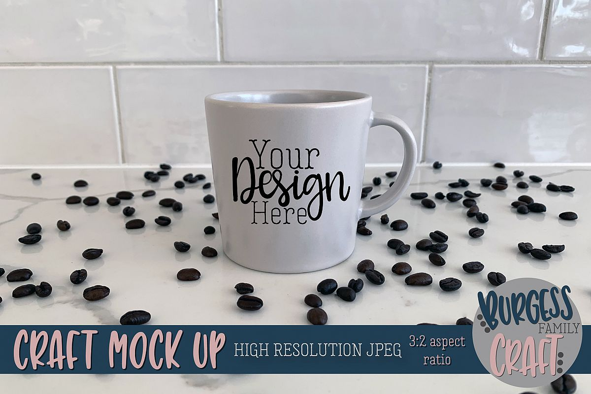 Grey Ikea mug coffee Craft mock up|High Resolution example image 1