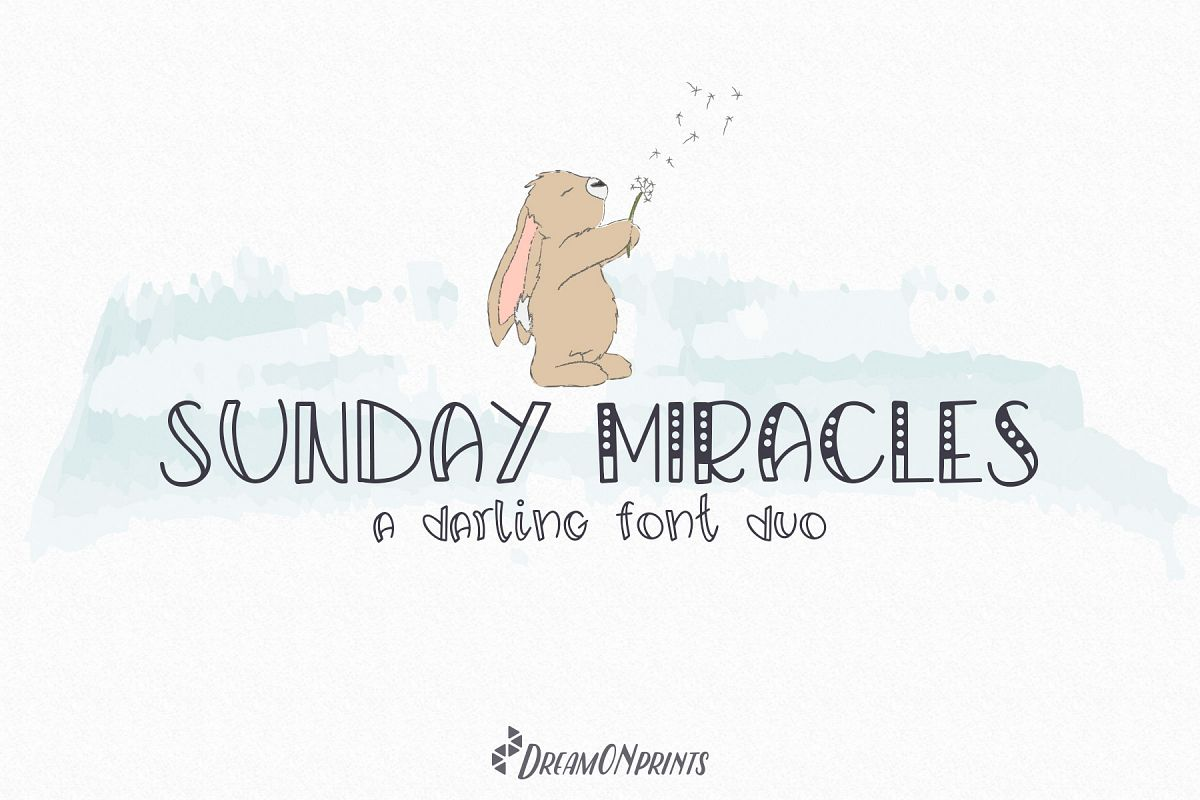 Sunday Miracles Font Duo example image 1