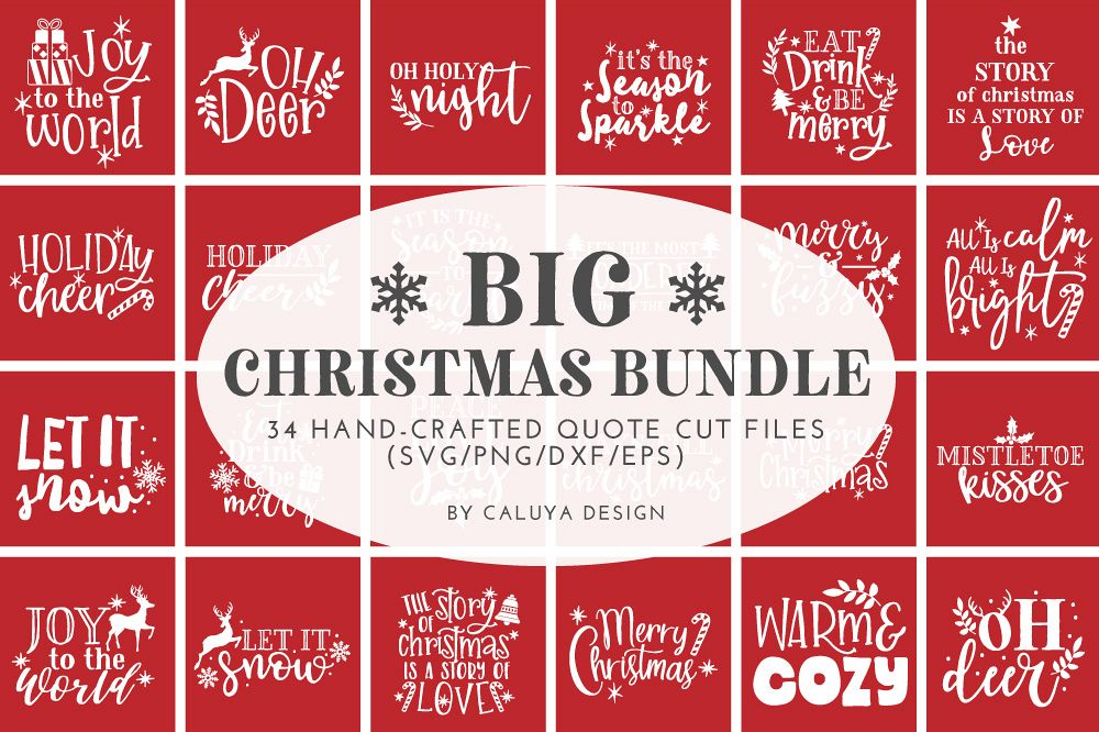 Happy Christmas SVG Cut File Bundle example image 1