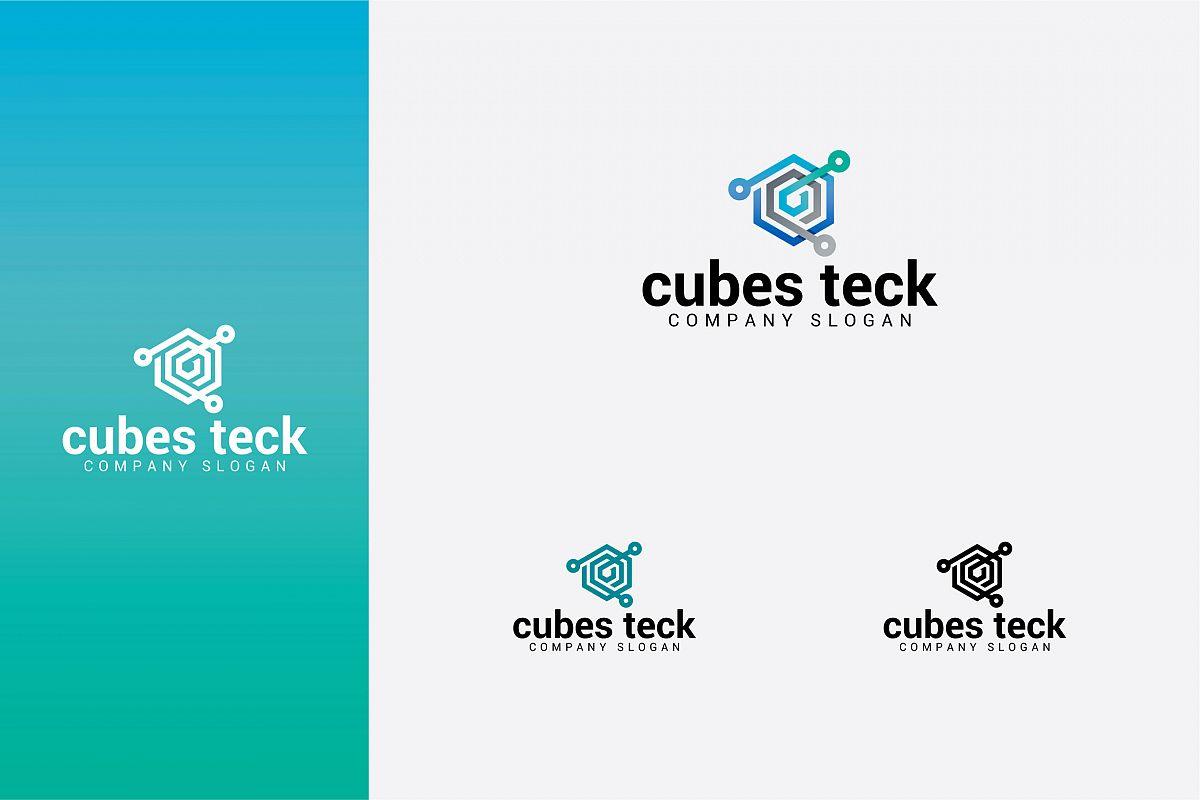 cubes teck logo example image 1