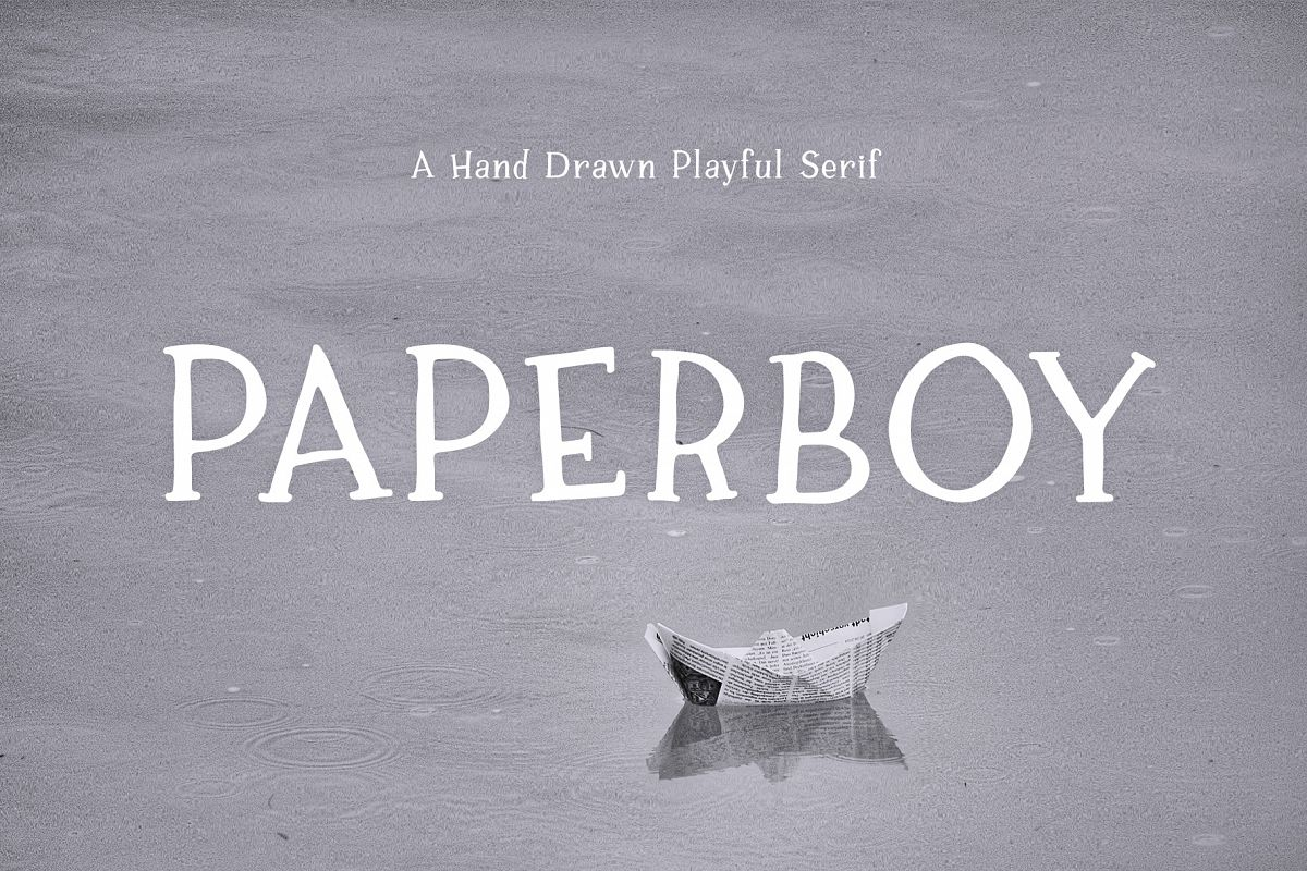 Paperboy | A Hand Drawn Playful Serif example image 1