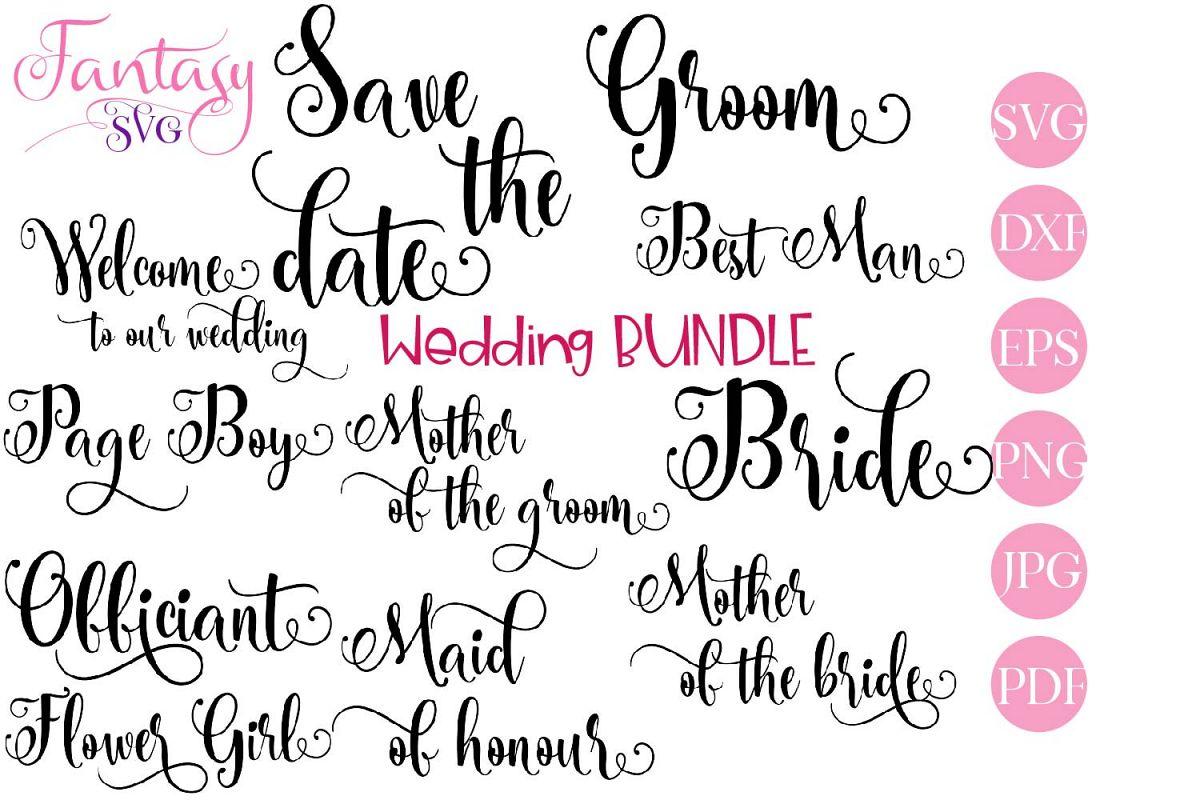 Wedding BUNDLE - svg cut files example image 1