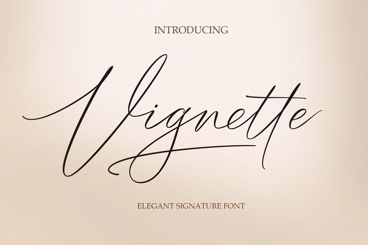 Vignette Signature Script example image 1