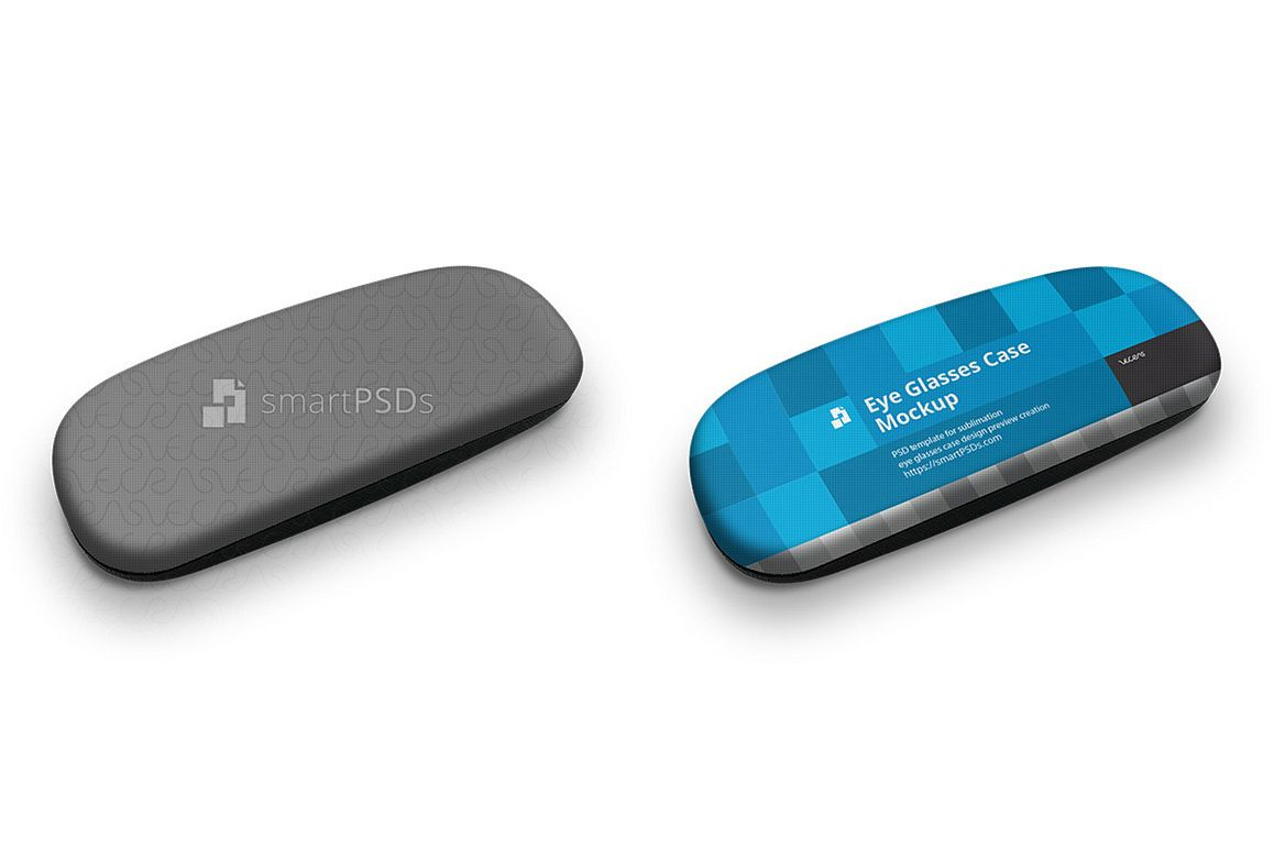 Clamshell Eyeglass Case Mockup for Sublimation Print Design Preview example image 1
