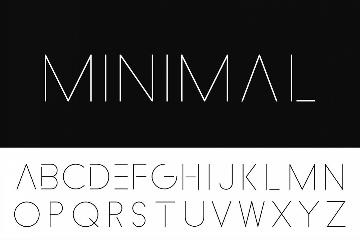 Minimalistic font. Thin design. example image 1