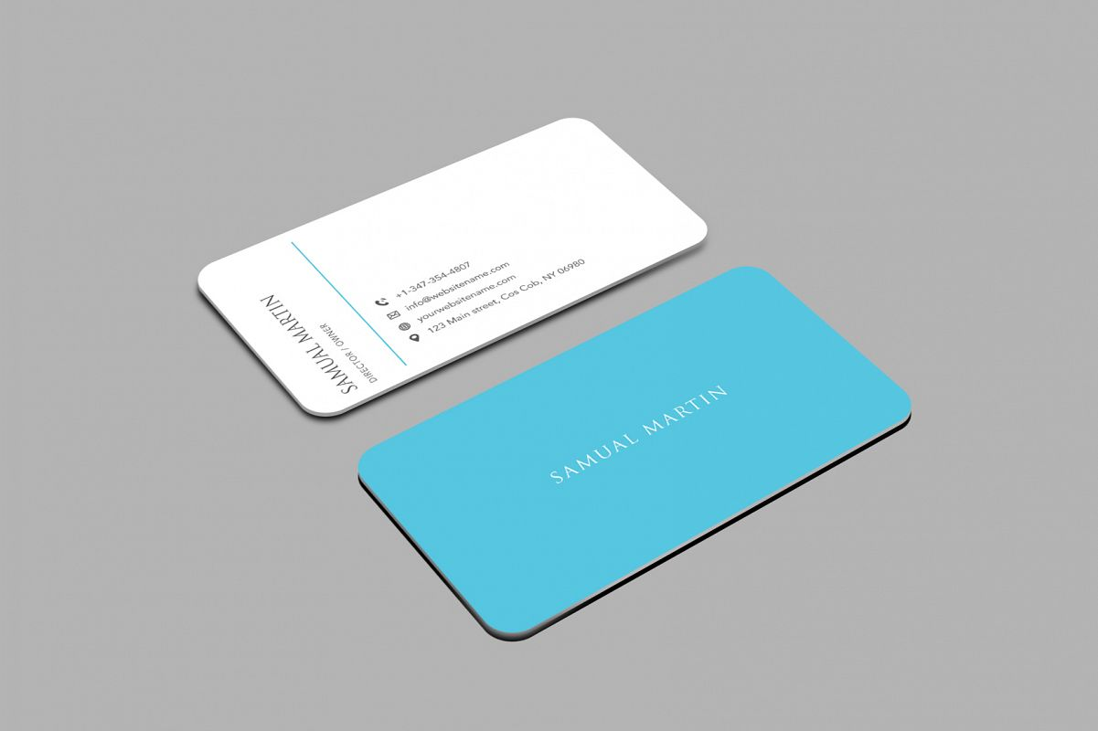 Beautiful Simple Classy Modern Business Card example image 1