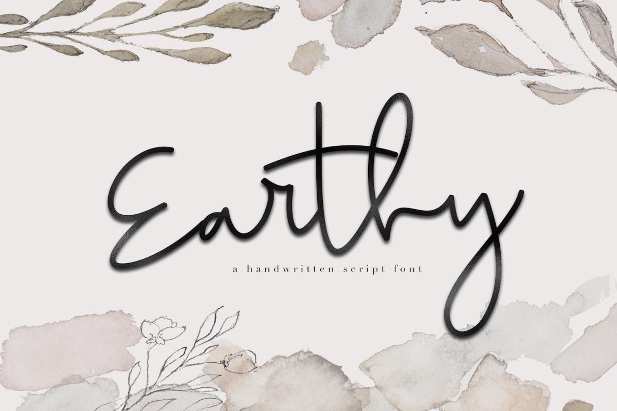 Earthy A Handwritten Script Font