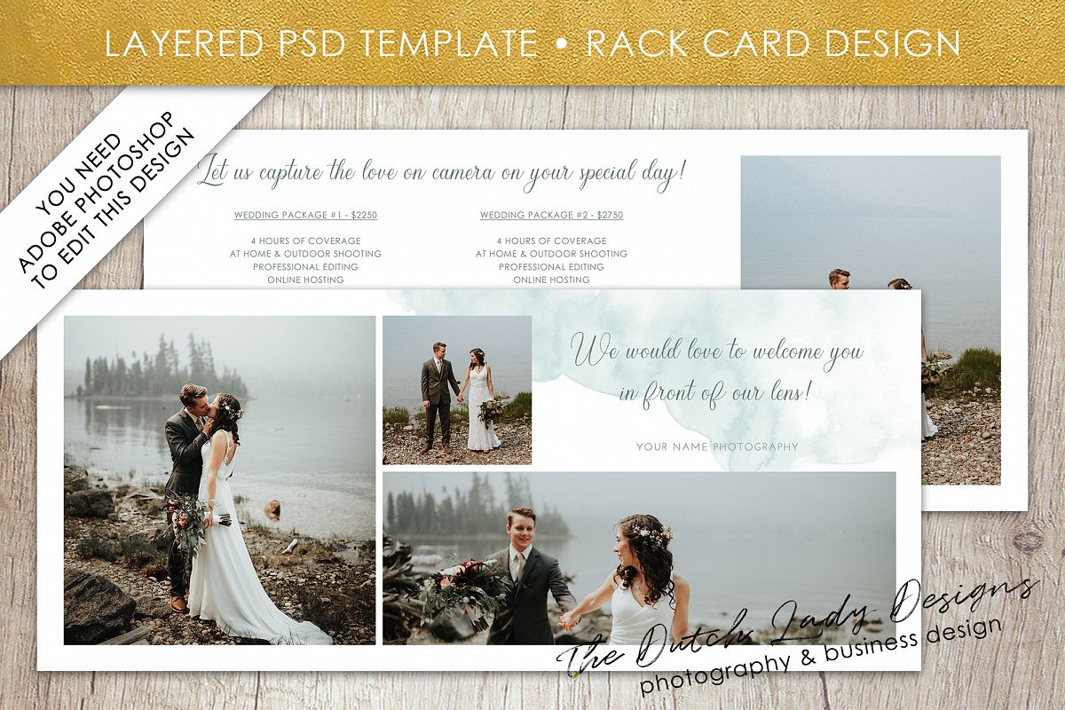 Photo Rack Card Template For Adobe Photoshop Layered Psd Template Design 8
