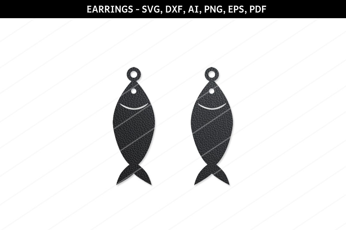 Fish Earrings Svgjewelry Svgcricut Filessilhouette Files