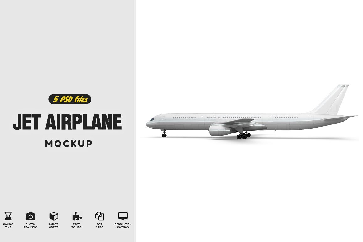 Jet Airplane Mockup example image 1